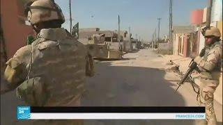 شوف هذا ابو الهمر الاميركي شجان يسوي في شوارع الموصل