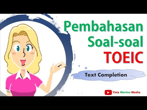 toeic pembahasan soal toeic text completion
