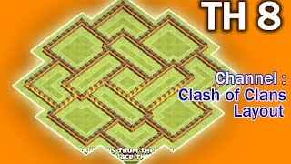 Clash of Clans Town Hall 8 TH8 War Base SUPER HARD