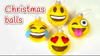 DIY Christmas crafts: EMOJIS christmas balls - Innova Crafts