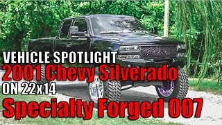 "Spotlight - 2001 Chevy Silverado 1500 With 12"" Lift, 22x14's And 37's"