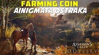 Farming Coin | Arkadia | Ainigmara Ostraka Puzzle Location and Solution | AC ODYSSEY