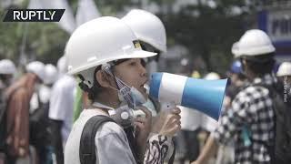 Myanmar unrest | Gunshots at anti-military-coup rally in Yangon