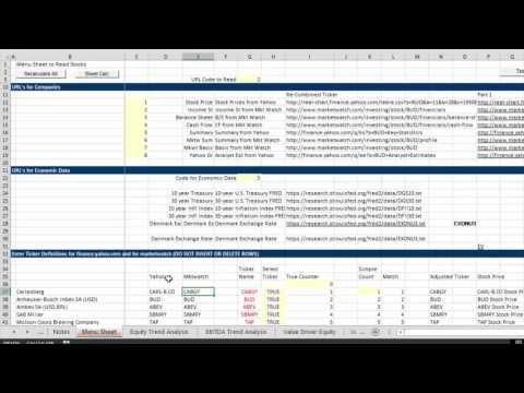 Cost of Capital Course 3 - Entering Ticker Symbols and Retrieving Data