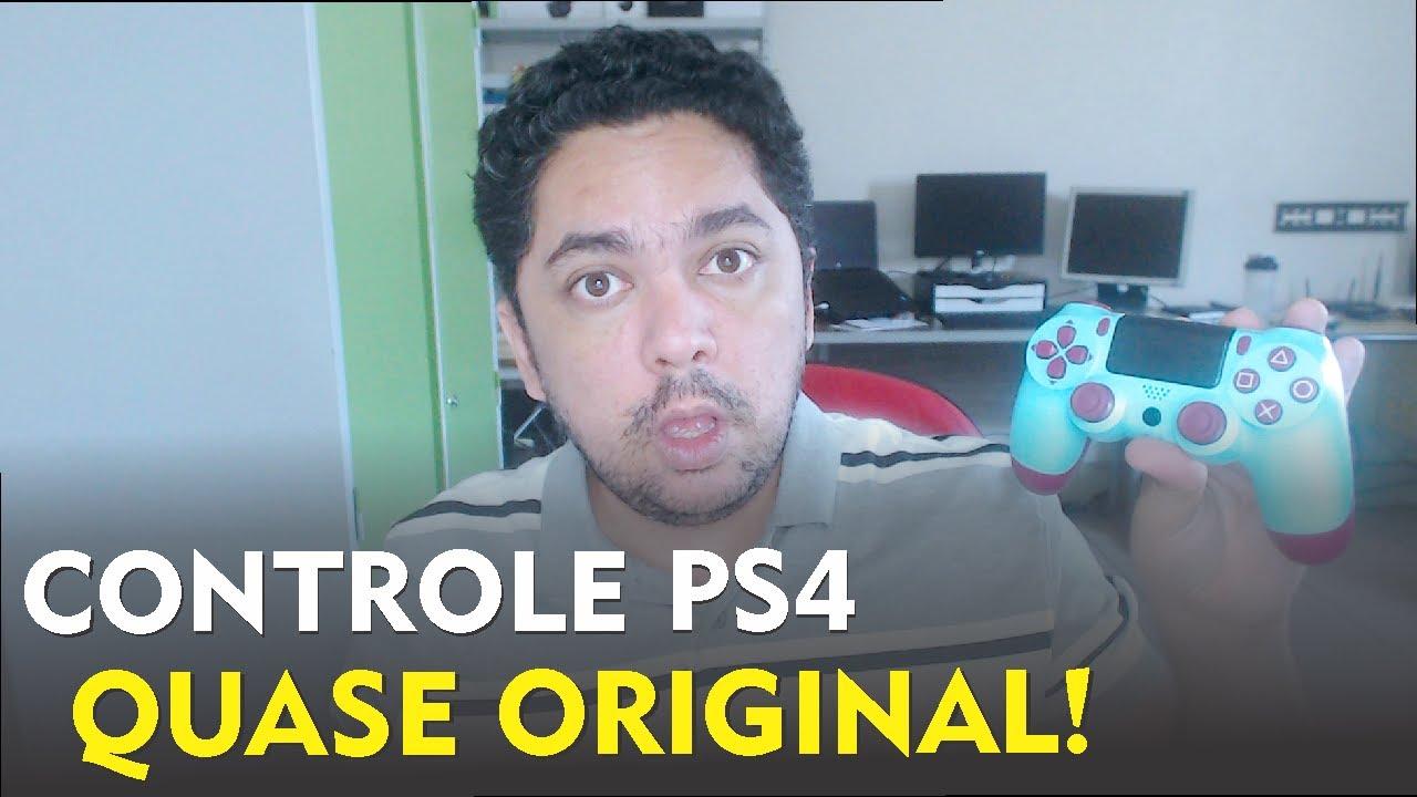 Controle PS4 Aliexpress da China DualShok 4 Paralelo Berry Blue - Unboxing e Teste.