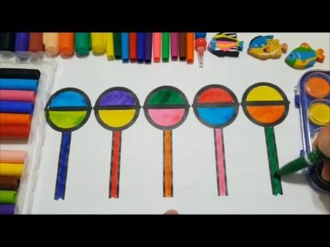 Zeichnung Lollipop Malvorlagen für Kinder - YouTube