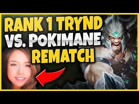 THE REMATCH! RANK 1 TRYNDAMERE VS. POKIMANE! RIFT RIVAL SCRIMS FT. YASSUO - League of Legends thumbnail