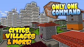 Minecraft | INSTANT Cities Villages & More! | NO MODS | Only One Command Block (Minecraft Redstone)