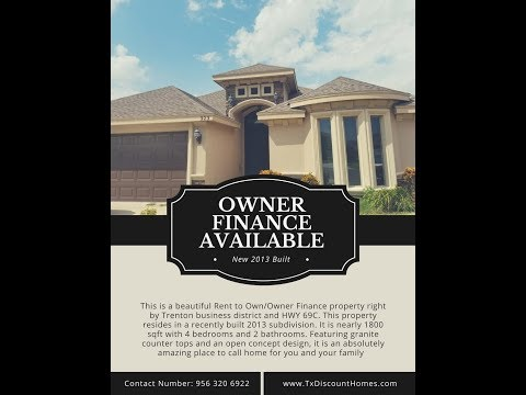 Cheap Beautiful Rent To Own/Owner Finance Property In Edinburg TX Booming District! Wont Last Long