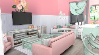 DAY 11 OF GIVEAWAYS!! The Sims 4: Speed Build // MINTY APARTMENT + CC LINKS