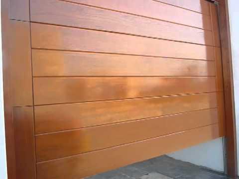 Puerta seccional cedro youtube - Puertas de madera para entrada principal ...