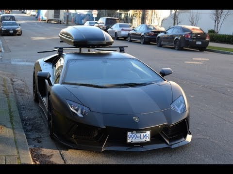 "Roof Rack Lamborghini >> Lamborghini Aventador ""Snowventador"" with Ski-Box - YouTube"