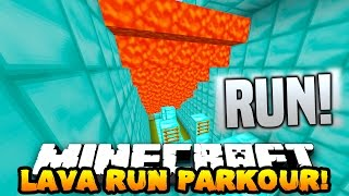 Minecraft SUPER LAVA RUN! (PARKOUR FROM LAVA!) w/PrestonPlayz, Lachlan & MrWoofless