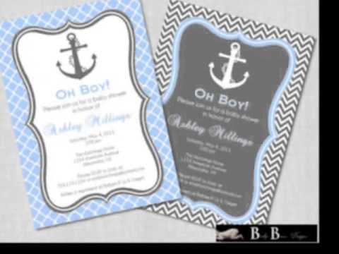 nautical baby shower invitations, Baby shower invitations
