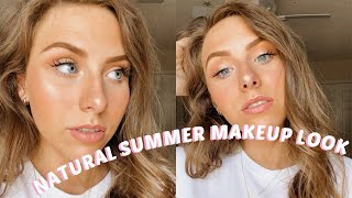 EVERYDAY NATURAL GLOWY SUMMER MAKEUP | *NO FOUNDATION*
