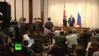 Пресс конференция глав МИД России и Китая