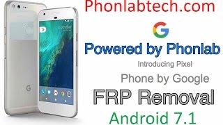Google Pixel, Nexus 6p, and Nexus 5X FRP Bypass on Android 7