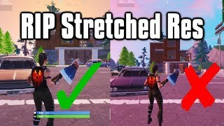 Why Epic Is Banning Stretched Resolutions - The End Of Stretched Res (Fortnite Battle Royale)