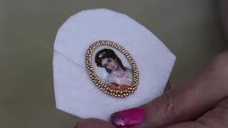 How To Create  A Beaded Bezel