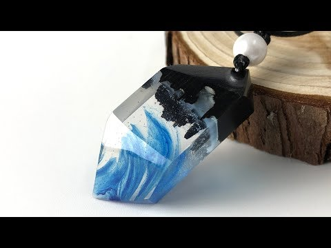 Amazing blue pendant | Resin art jewelry| Amazing DIY Ideas epoxy resin art jewelry