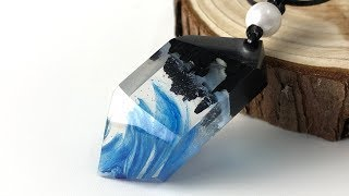 Amazing blue pendant | Resin art jewelry| Amazing DIY Ideas epoxy resin art jewelry
