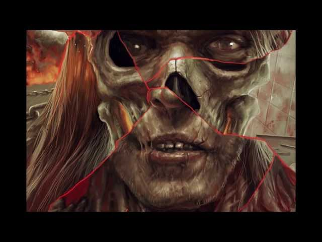 Dead Centre Video of Pär Olofsson painting the Fractured Memories of Grotesque Butchering album art