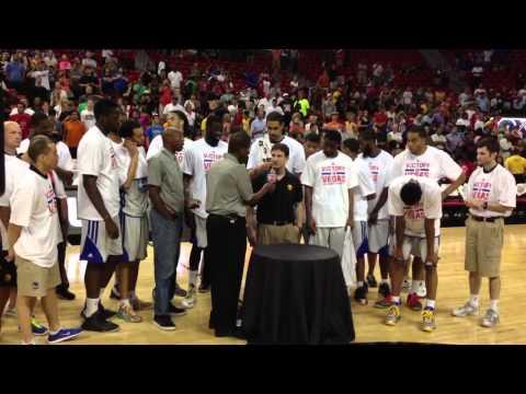 Golden State Warriors trophy presentation at 2013 NBA Summer League