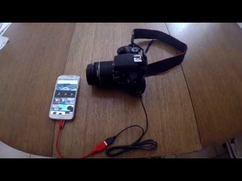 How to download pictures from my canon digital camera to my phone