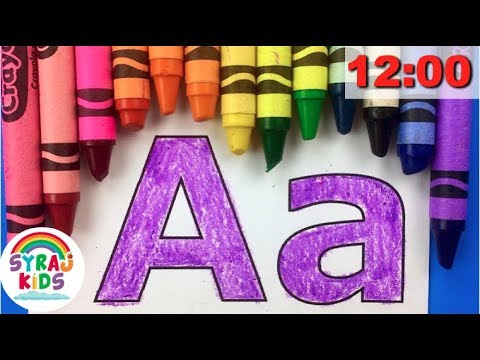 Alphabet Song for Kids  Color CRAYOLA CRAYONS ABCs & 123s  English Alphabet & Numbers  Syraj KIDS