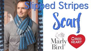 How to Knit Slipped Stripes Scarf is a free pattern from Red Heart....