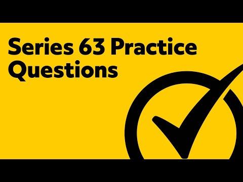 Series 63 Exam Practice Questions