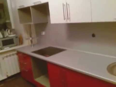 Кухня МДФ глянец бело красная