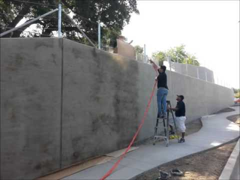 Exterior Concrete Wall Staining 2016