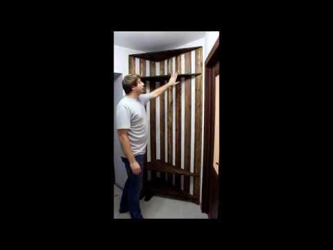 Шкаф в прихожую своими руками | угловая прихожая из дерева | угловой шкаф