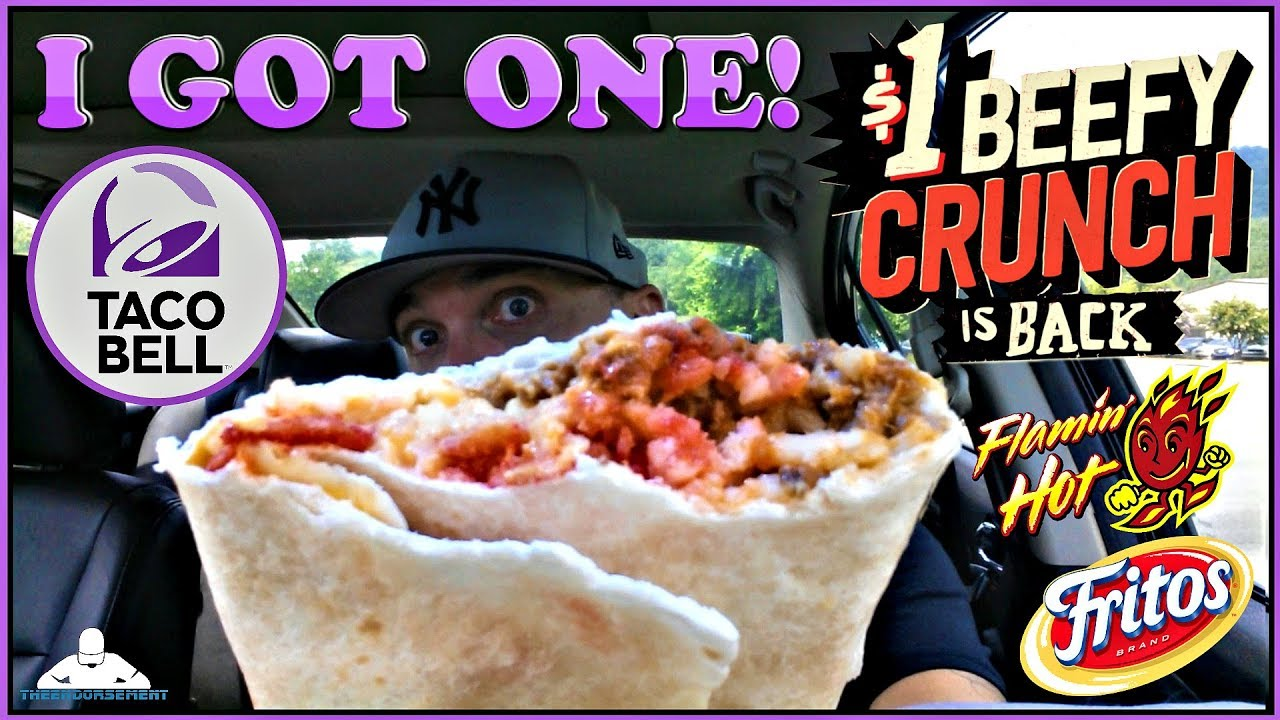 Taco Bell Beefy Crunch Burrito Review Youtube