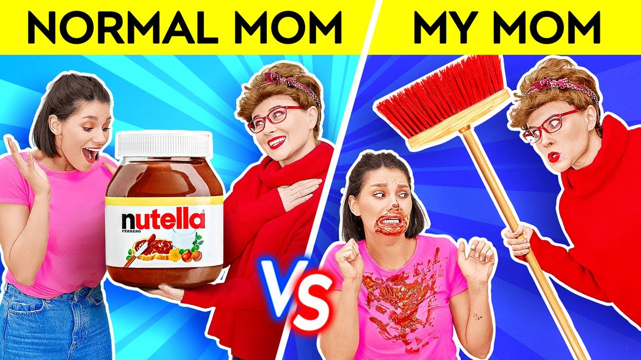 Download YOU'RE DOING BETTER THAN MOM THINKS || Normal Mom VS My Mom Funny Memes and Pranks by 123 GO! SCHOOL