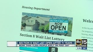Section 8 waitlist open after more than 11 years
