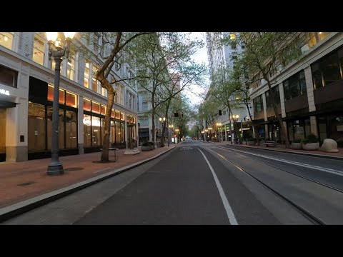 Downtown Portland Under Pandemic And Stay-at-home Order