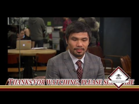 Manny Pacquiao Latest Interview 1/16/2015 + Update on May fight!