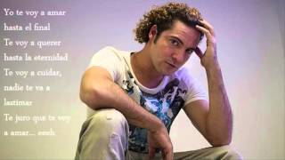 David Bisbal-Hasta el final-letra