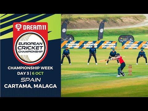 🔴 Dream11 European Cricket Championship | Championship Week Day 3 Cartama Oval Spain | Live Cricket
