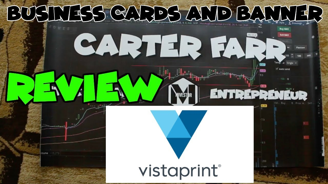 Vista Print Unboxing Video : Banner and Business Cards