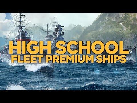World of Warships - High School Fleet Premium Ships