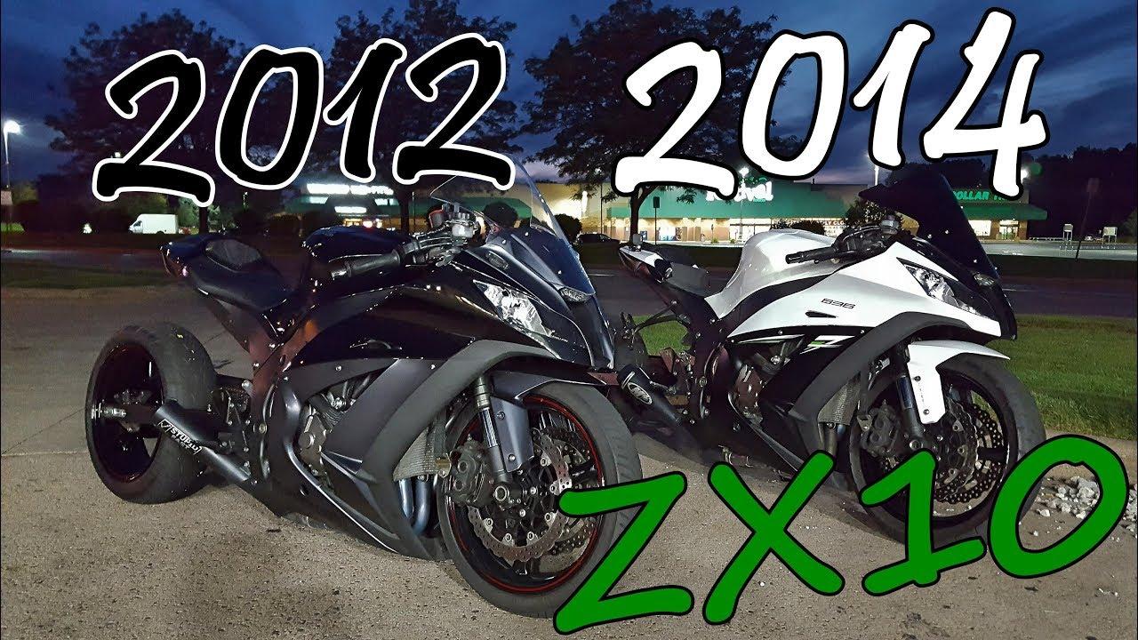 2012 ZX10 vs 2014 ZX10 - YouTube