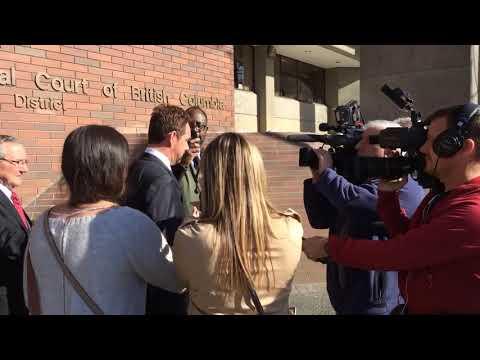 Raw: Desmond Hague exits Vancouver courthouse