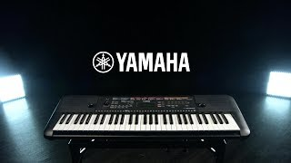 Yamaha PSR E263 Portable Keyboard, Black | Gear4music demo