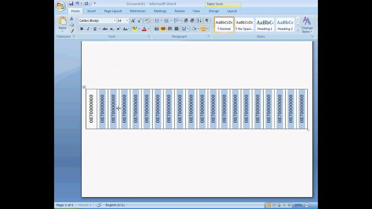 Create Flyer with Tear Off Tabs in Word 2007 - YouTube