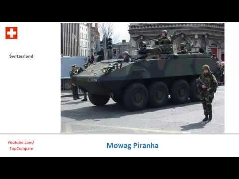 Mowag Piranha, 8x8 armored fighting vehicles