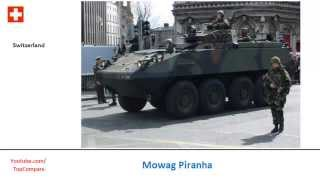 Mowag Piranha, 8x8 armored fighting vehicles
