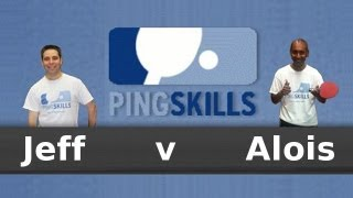 Alois Rosario vs Jeff Plumb - Table Tennis Match